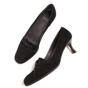 Stuart Weitzman Shoes - Stuart Weitzman Kitten Heel Black With Laces 9